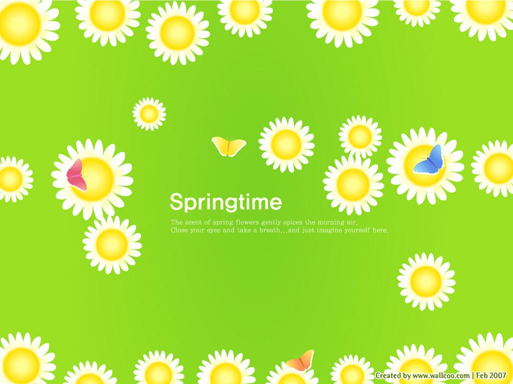 韓國矢量插畫- 春天 春天矢量圖片4 : 1024 * 768
